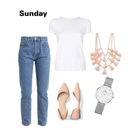 1 outfit - blue jeans white shirt polyvore