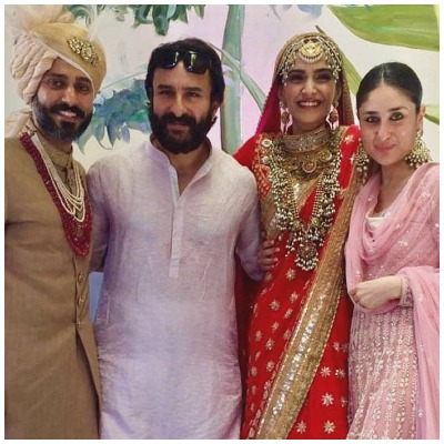Kareena Kapoor in Sonam Kapoor's wedding