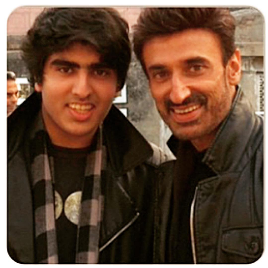 Rahul Dev with his Son