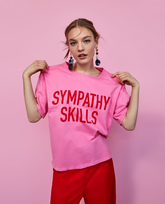 1 zara clever slogan tee wardrobe pieces for college freshers