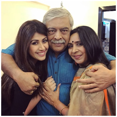 Ankita Bhargava with parents