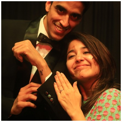 Shweta Tripathi and Chaitanya Sharma