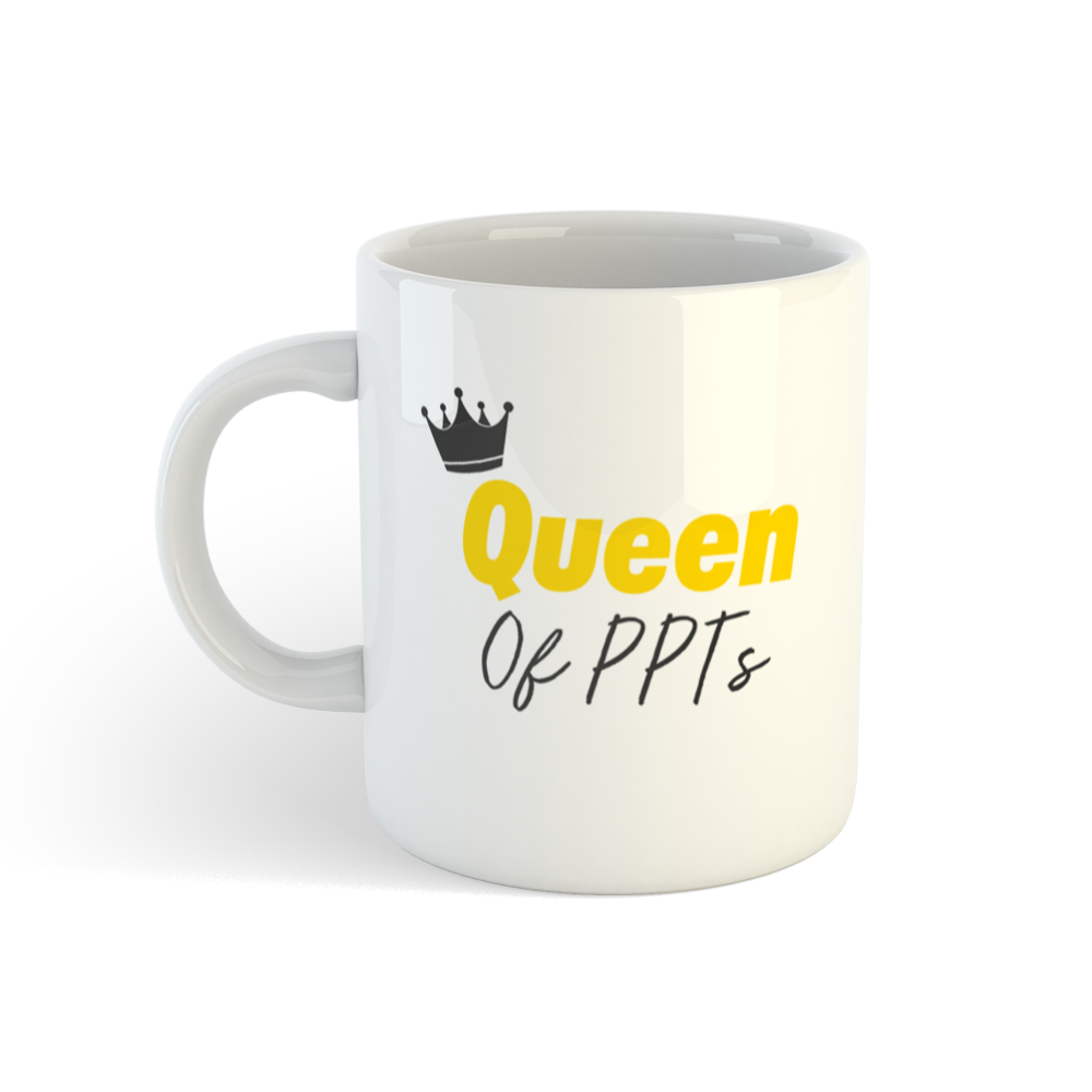 5 coffee mugs - queen of PPTs boss lady