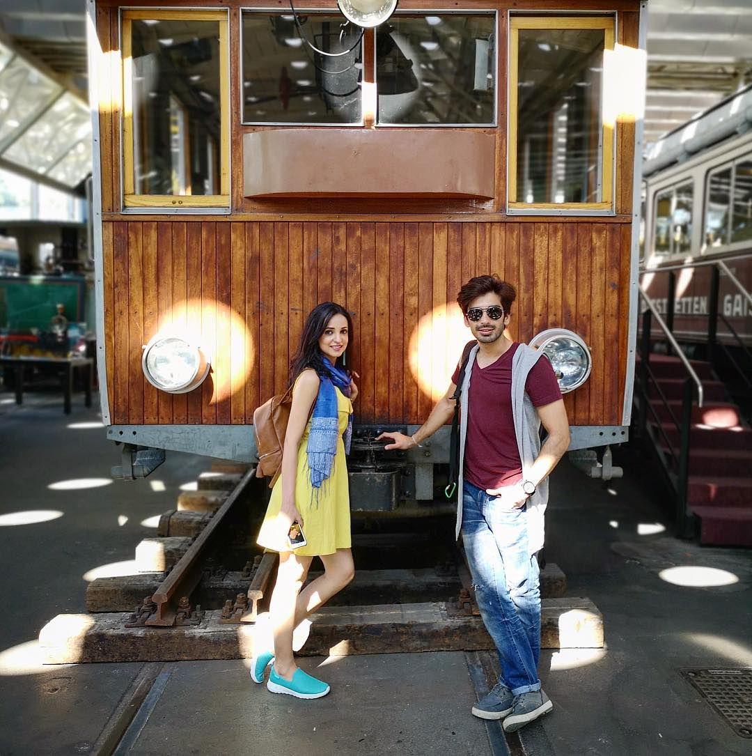 6 sanaya irani - with mohit sehgal in switzerland