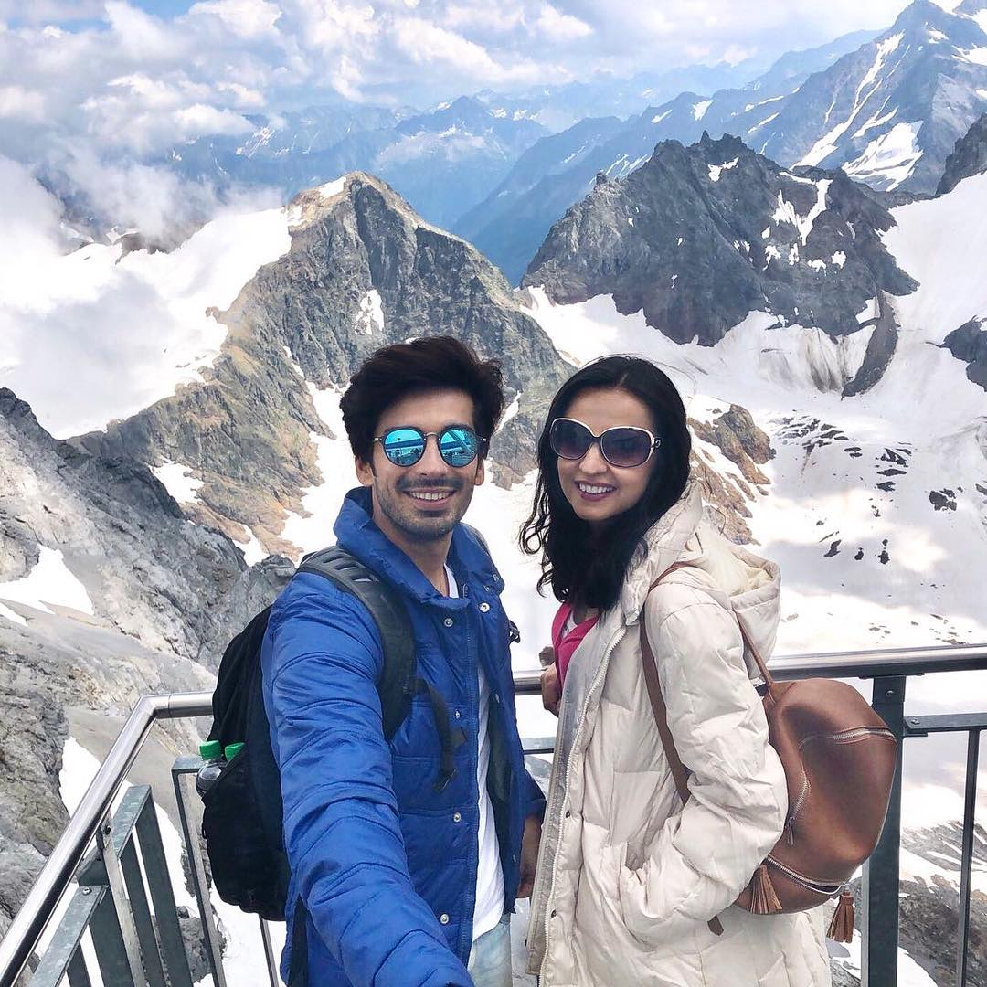 9 sanaya irani - snow mountains in switzerland