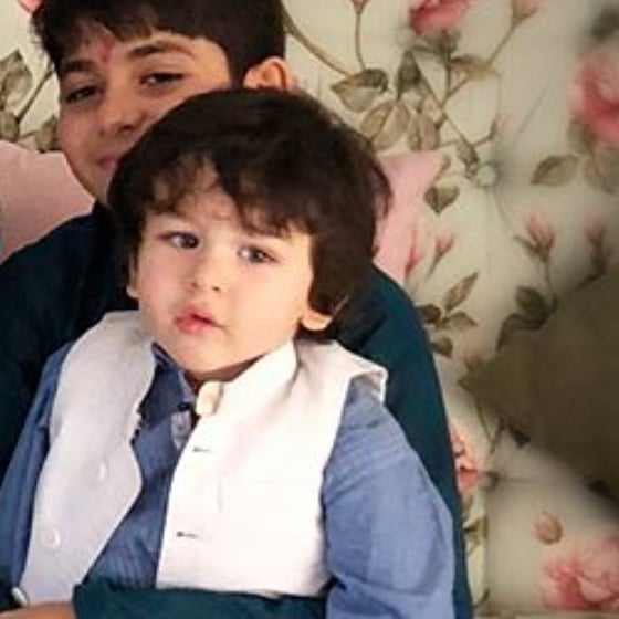 Taimur with karishma's son