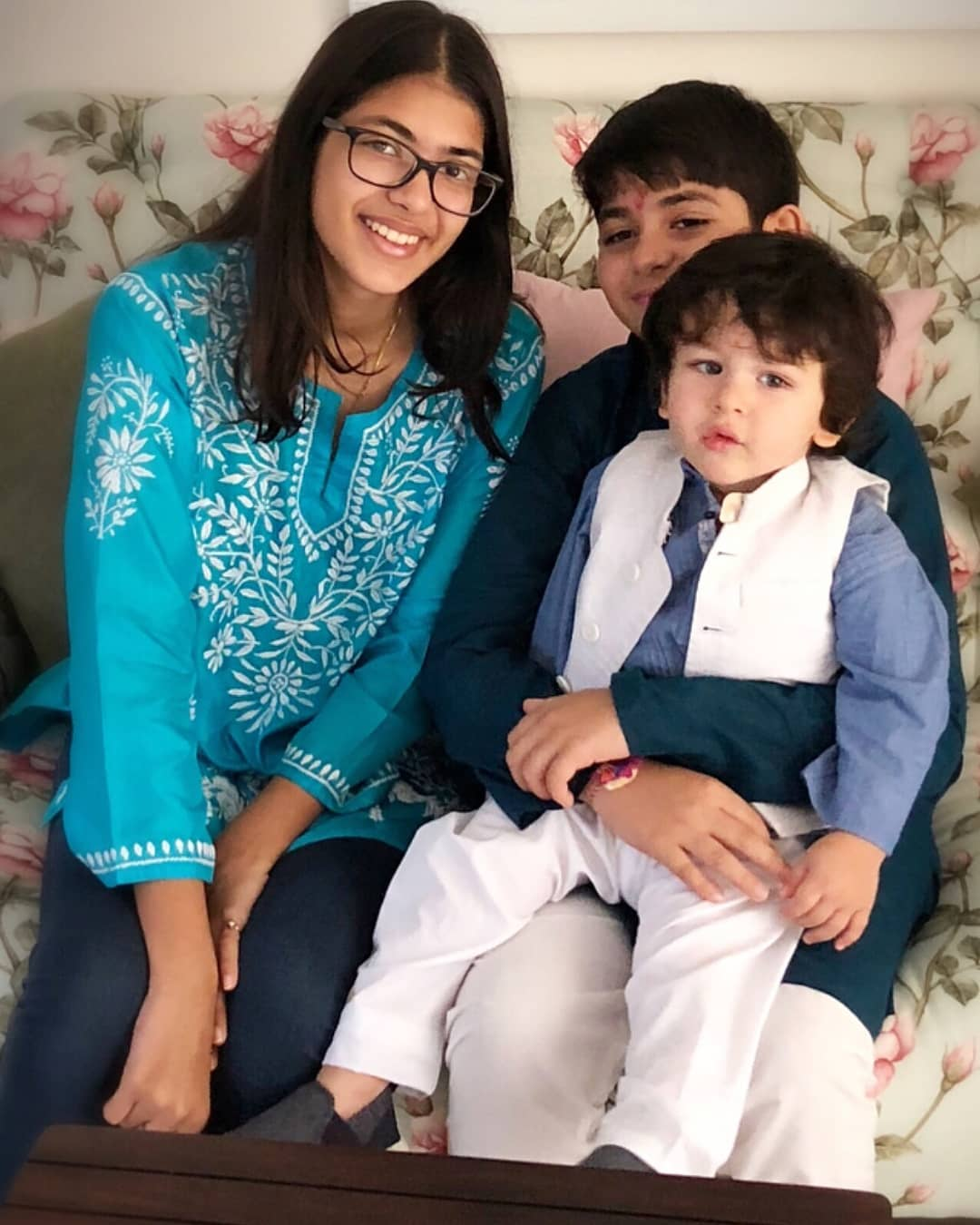 Taimur with cousins