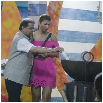 Anup Jalota and Jasleen Matharu in Bigg Boss 12
