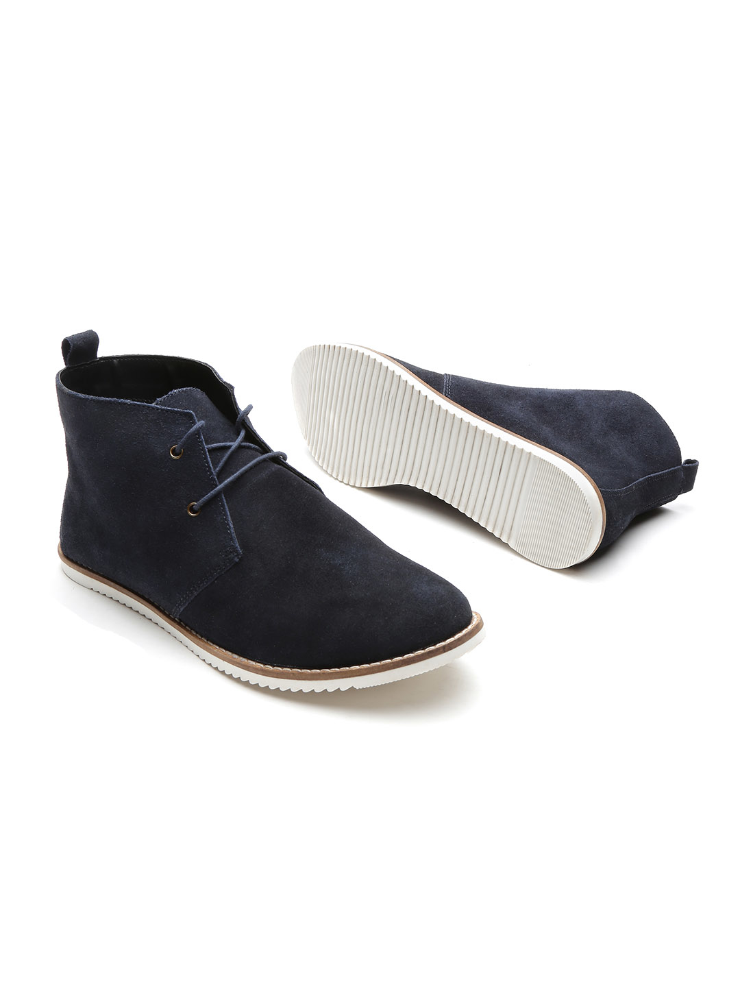 22-types-of-boots-Navy-Mid-Top-Flat-Boots