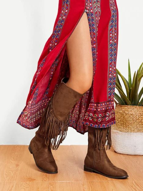 29-types-of-boots-Tassel-Detail-Knee-High-Boots