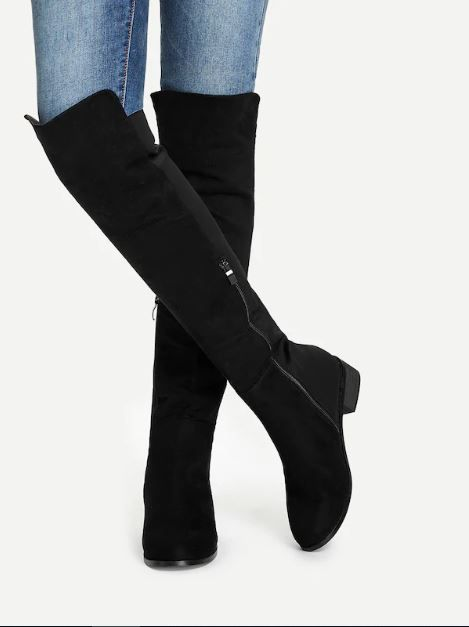 4-types-of-boots-Knee-Length-Plain-Boots