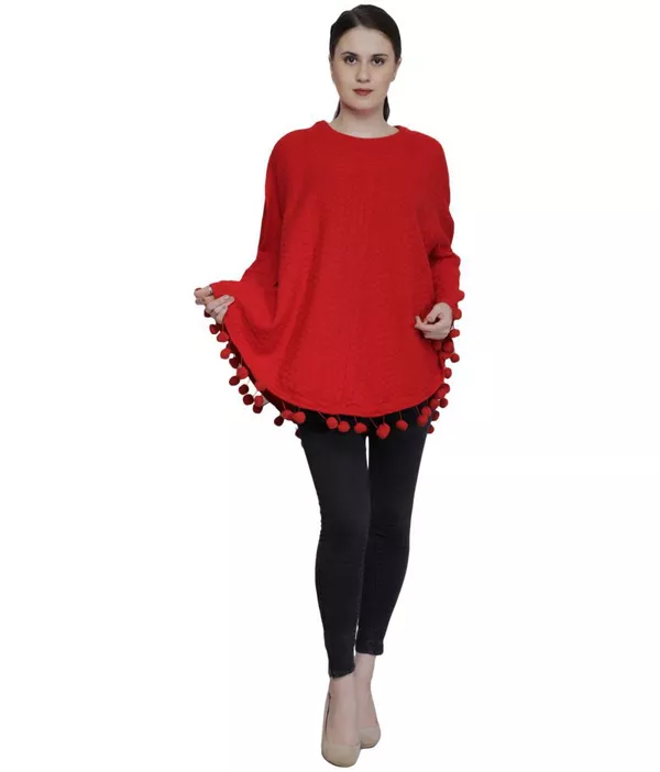 Christmas Gifts Ideas 2018- Red Poncho