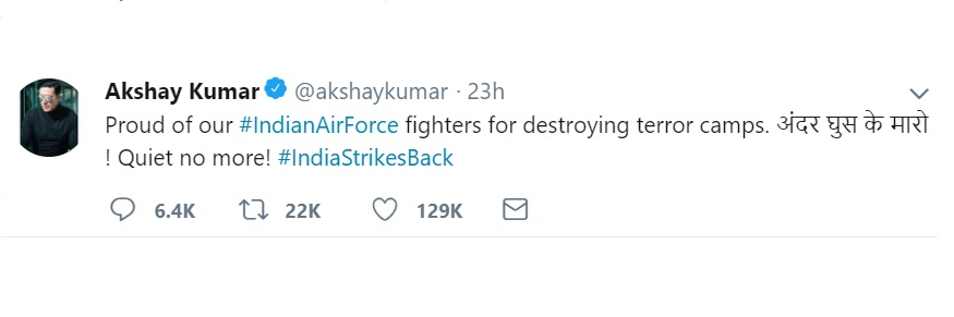 air-strike-akshay-kumar-reaction