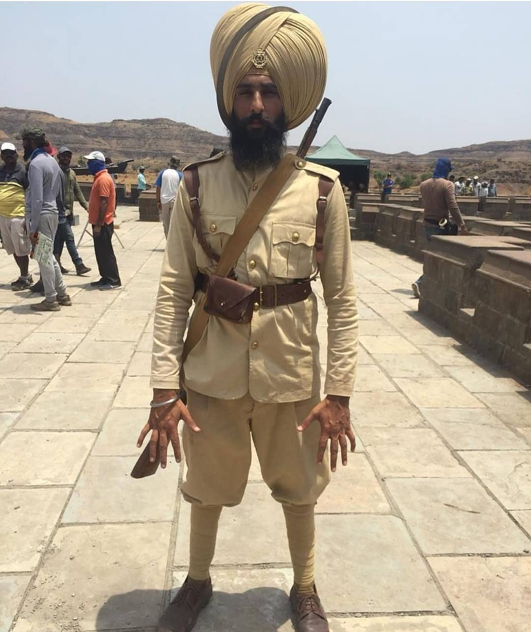 on the set of kesari