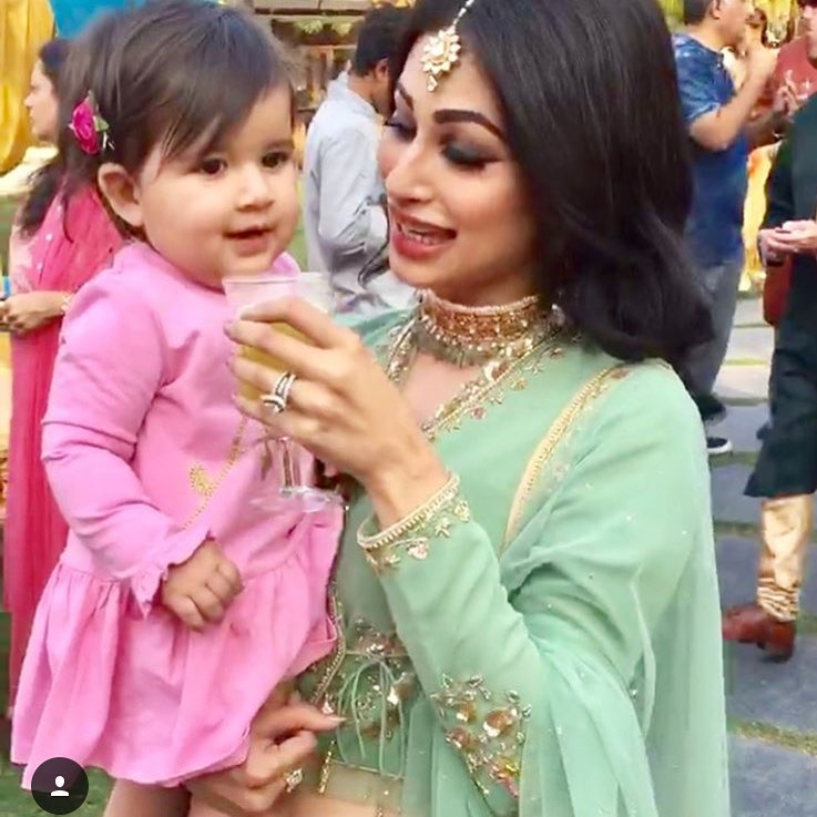 things every new maasi will relate to mouni roy with a baby