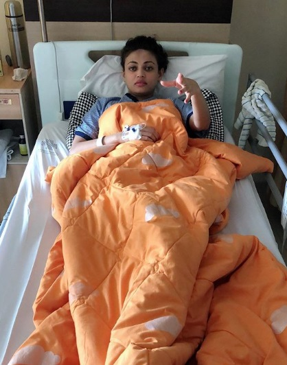 Sneha Ulal Admitted in hospital 1