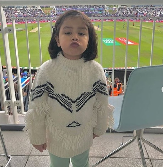 Ziva Dhoni Debut in WorldCup 2019 1