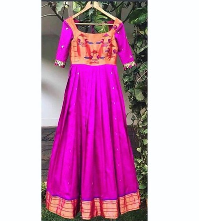 4.Dresses Made From Old Sarees In Marathi
