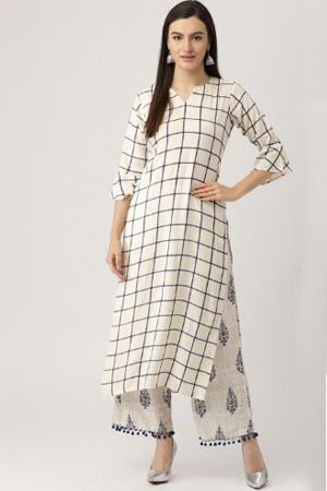 libas-women-off-white--navy-blue-printed-kurta-with-palazzos-ethnic-office-wear