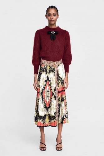 6-what-to-wear-on-first-date-printed-skirt-for-Lunch-Date