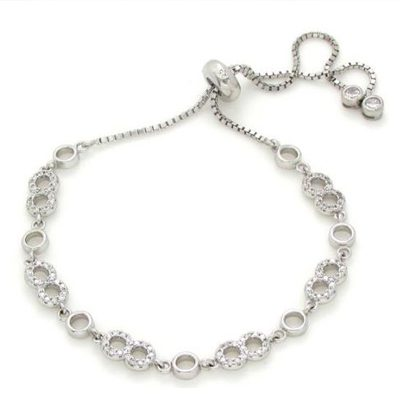 dangling-infinity-silver-bracelet-with-tiny-stones-Gifts-for-in-laws