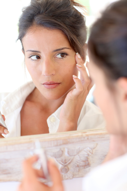 glowing skin with makeup