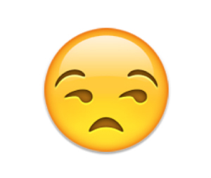 favorite emoji says about you - the unamused