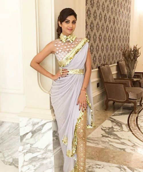 unconventional ways to drape sari