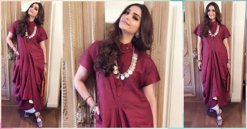 How To Steal Sonam's Dreamy Draped Look For A Shaadi!