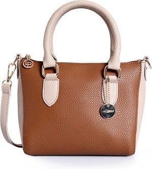 cream-and-brown-handbag