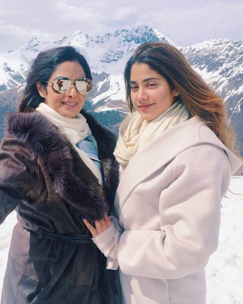 holiday pictures of Sridevi