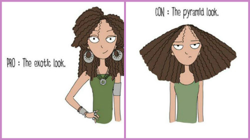 2 pros and cons of curly hair