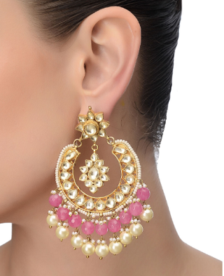 3 gold plated earrings