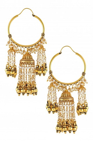 4 gold plated earrings