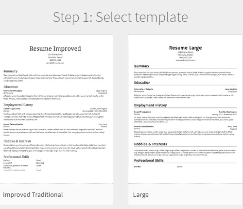 5 make awesome resumes online