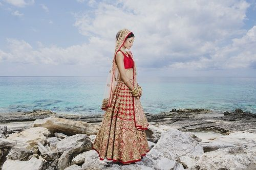 1 brides who wore red lehengas