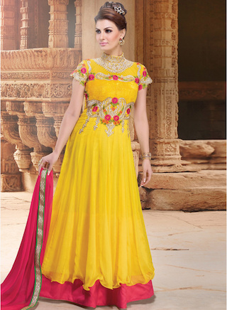16 anarkali gowns