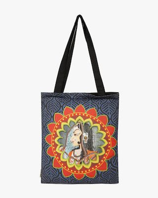 4 traditional printed bags
