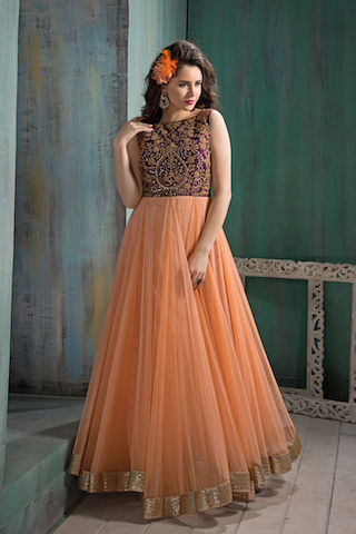 5 anarkali gowns