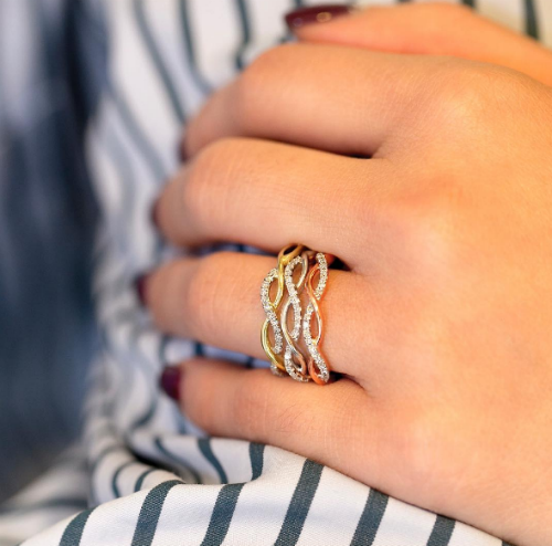 5 stackable engagement rings