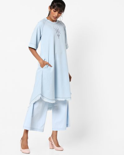 ajio-denim-kurta-best-kurta-brands