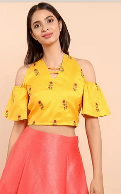 floral-cold-shoulder-crop-top-for-lehenga