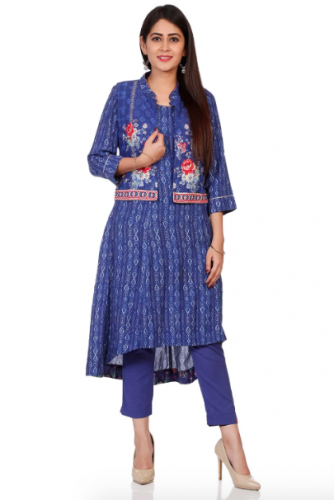 indigo-kurta-with-jacket-best-kurta-brands