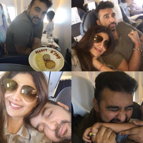 3 pictures of shilpa shetty and raj kundra