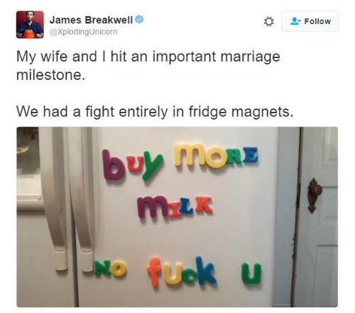 5 tweets about married life