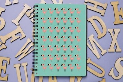 Flamingo-Mockup-notebook-beauty-gifts-for-friends