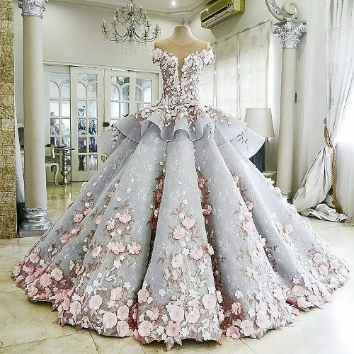 1 colourful wedding gowns