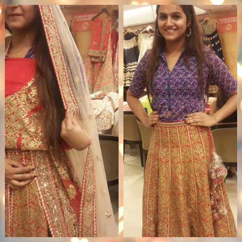 2 bridal lehenga fitting