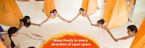 new forms of exercise - aerial yoga