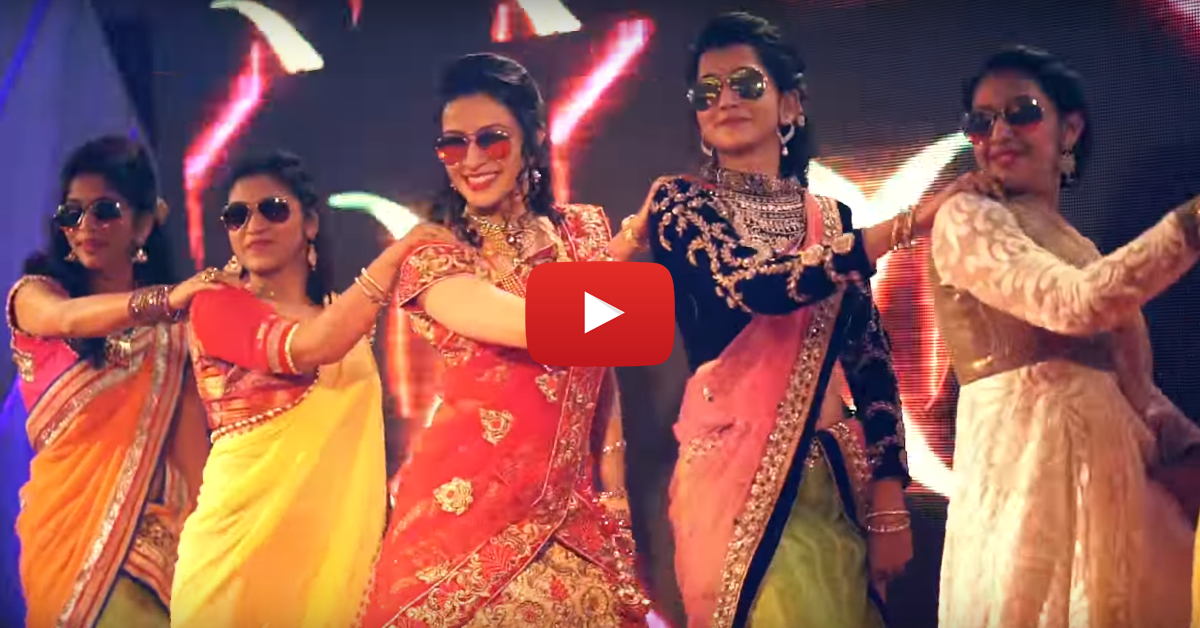 "This Bride & Her BFFs Danced To ""Kala Chashma"" - It's AWESOME!"